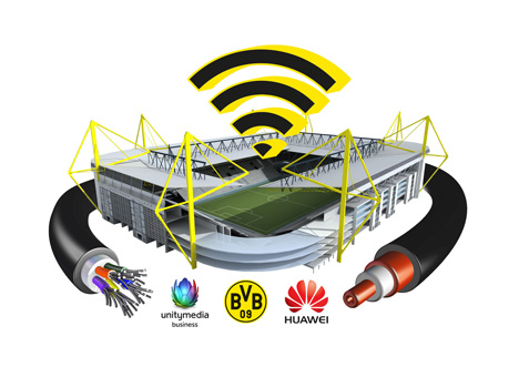BVB-Partner Unitymedia und Huawei bringen WLAN in den Signal Iduna Park Bild