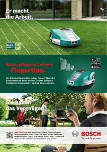 Heye schmei�t f�r Bosch-Kampagne den automatischen Rasenm�her an Bild
