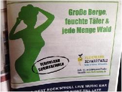 Werbemotiv für Ferienland Schwarzwald zu schlüpfig Bild