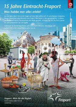 Fraport feiert 15-jähriges Eintracht-Sponsoring mit Kampagne Bild