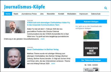 Journalimus-Köpfe.de berichtet über personelle Veränderungen in Redaktionen von Zeitungen, Zeitschriften, Digital-Medien, TV- und Radiosendern