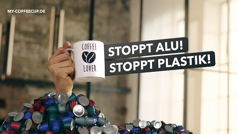 'Stoppt Alu! Stoppt Plastik' - so wirbt Schipper Company für UniCaps (Foto: UniCaps)
