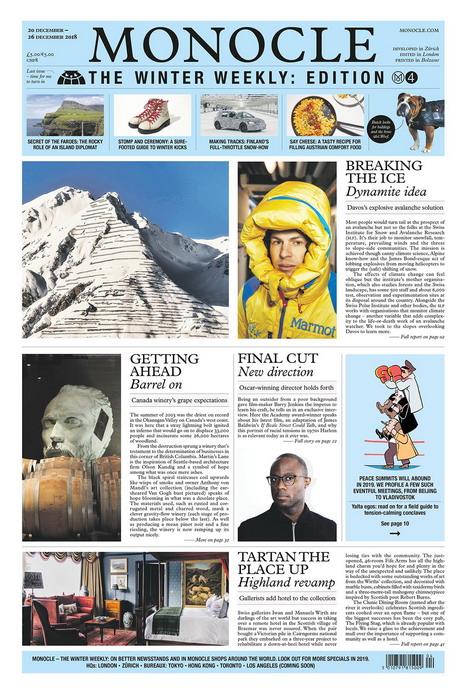 Die deutsche Ausgabe von 'Monocle – The Winter Weekly' erscheint in einer Auflage von 120.000 Exemplaren