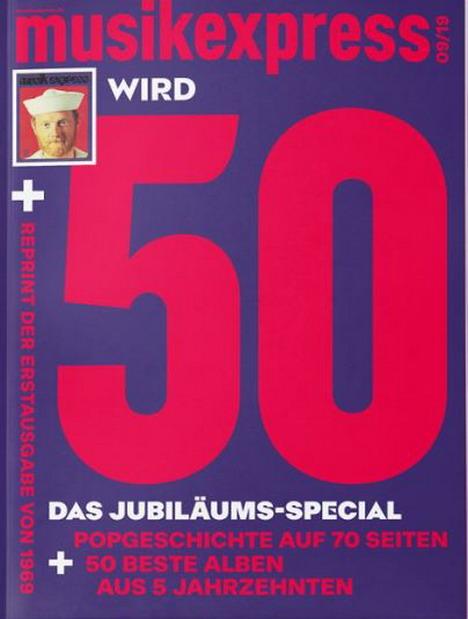 Die 'Musikexpress'-Jubiausgabe enthält als Extra die Erstausgabe von 1969
