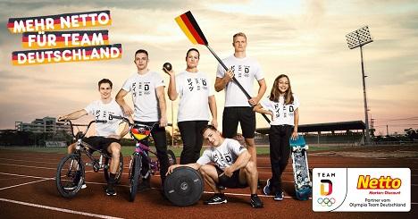 Netto unterstützt Sportler des Olympia Team Deutschland und ausgewählte Verbände (Foto: Netto)