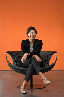 Julia Saswito, Geschäftsführerin von Triplesense Reply, freut sich über den Etat-Gewinn (Foto: Triplesense Reply)