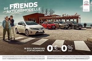 Toyota und Saatchi & Saatchi bewerben Friends-Aktionsmodelle im TV Bild