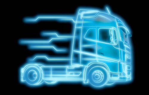 Volvo Trucks fährt in Deutschland mit For Sale Bild